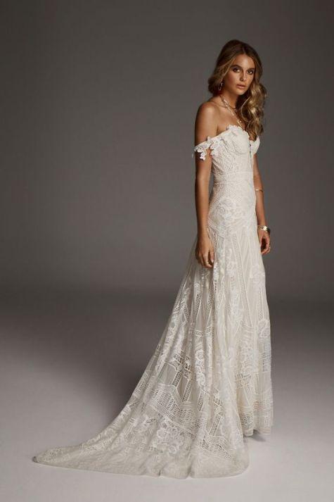 Rue de Seine boho beach wedding dress
