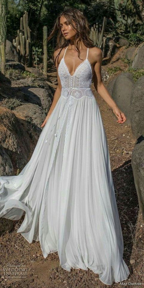 20 Dreamy and Whimsical Boho Beach wedding dresses | SheerEverAfter.com | Your online Maid of Honor