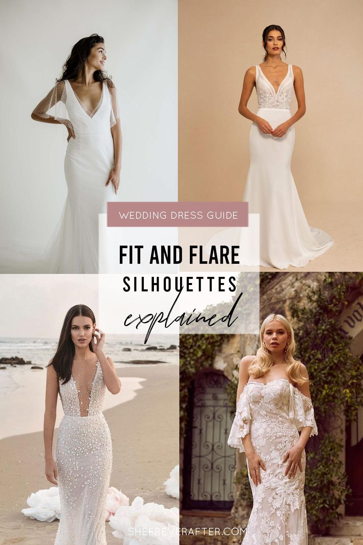 #weddingdress #weddingdresssilhouettes #bridalgown #bridal #weddingday #weddingideas #beautifuldress #fitandflare #trumpet