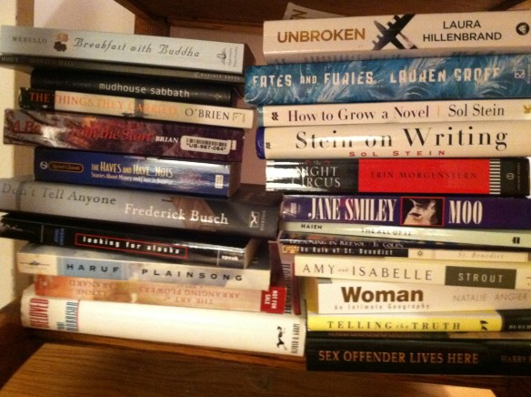 This is just the pile under my bedside table. Let's not even mention the Kindle.