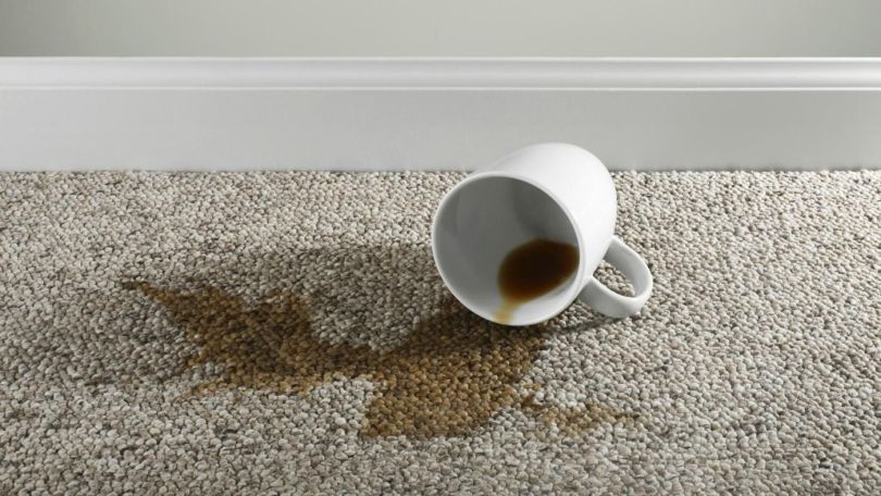 how to remove coffee stains from a rug