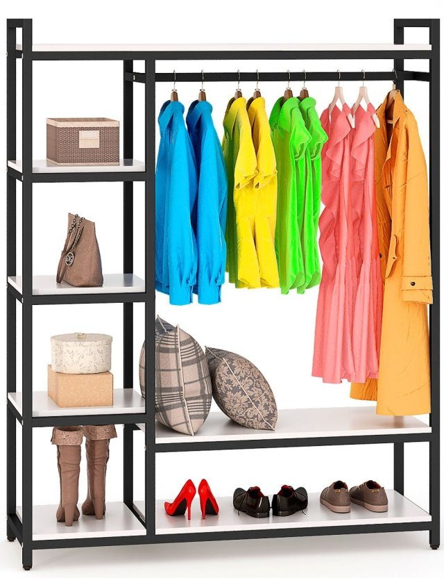 Organize your closet more efficiently by using a free-standing closet