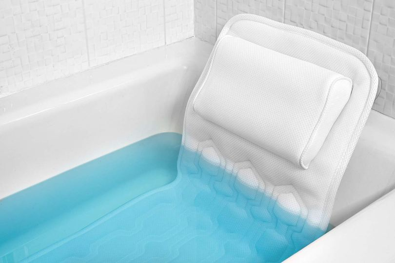 how to make a bath tub more comfortable