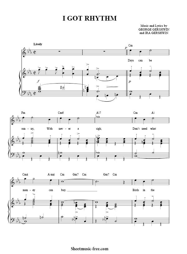 Download I Got Rhythm Sheet Music PDF George Gershwin