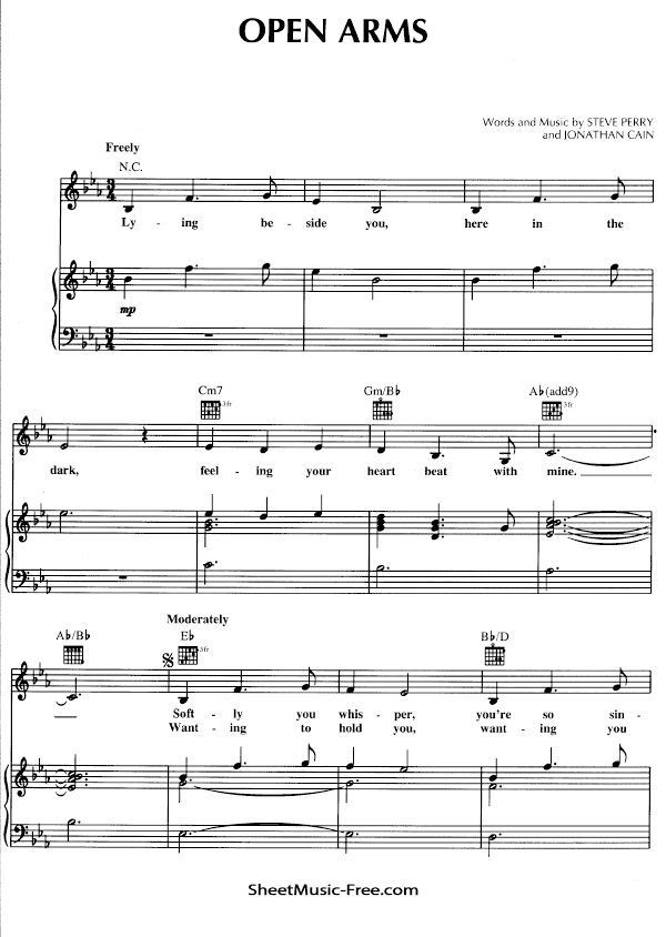 Download Open Arms Sheet Music PDF Journey