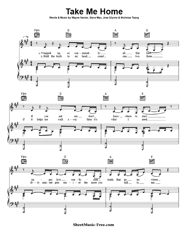 Download Take Me Home Sheet Music PDF Jess Glynne