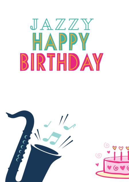Jazzy Happy Birthday For Saxophone Eb Alto Baritone Sheet Music Pdf Download Sheetmusicdbs Com