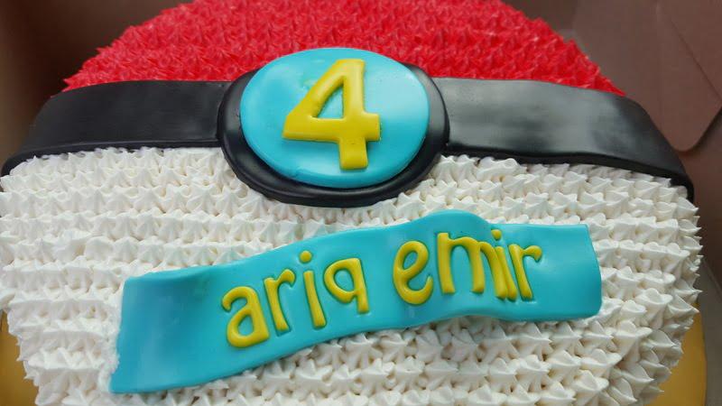 tema-kek-pokeball-untuk-birthday-ke-4-ariq-emir-2