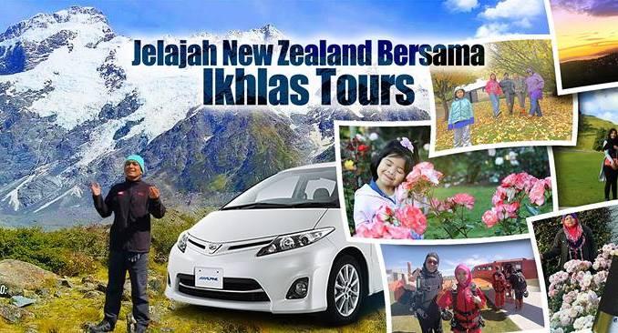 JOM JELAJAH NEW ZEALAND DENGAN IKHLAS TOURS