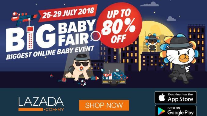 WOW! LAZADA BIG BABY FAIR 2018 DAH BERMULA!! POTONGAN SEHINGGA 80% TUUU!!