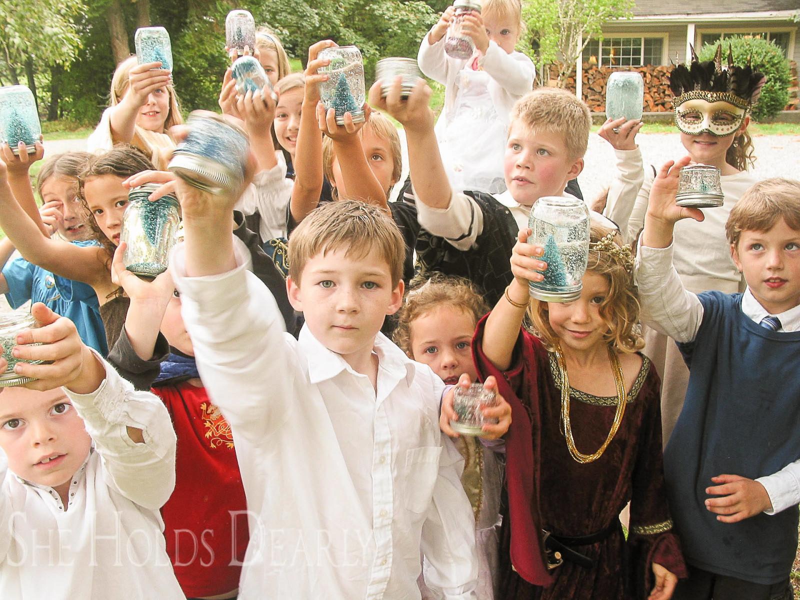 children's birthday, mason jar craft