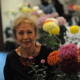 Photo of me, Sheila Zucman, at the 81st annual Chrysanthamum Show at Descanso Gardens.