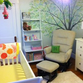 Tree mural for decorated baby's room, Swampscott, MA.