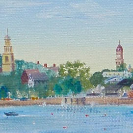 "Approaching Gloucester, 4"" x 12"""