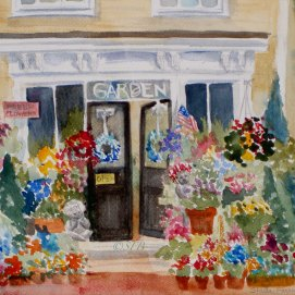 "Perennial Favorite, watercolor, 8"" x 10"" (Old Town, Marblehead, MA)"