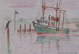 "The Corrina, color pencil, 8"" x 10"" (Martha's Vineyard, MA)"