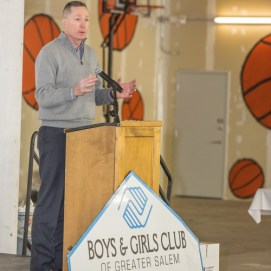 State Representative, Paul Tucker, speaks at Boys' & Girls' Club of Greater Salem fundraiser.