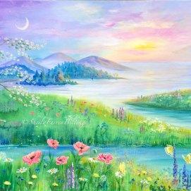 """Dreamscape, acrylic, 18"""" x 24"""""""