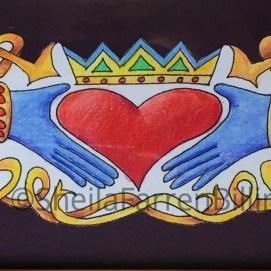 "Friendship - Love - Fidelity, pencil & ink, 4"" x 12"""