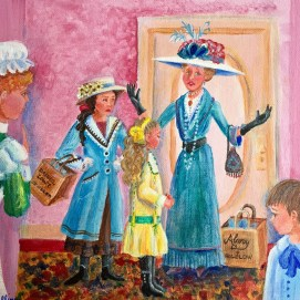 Everyone is a-flutter; Virginia is in trouble again! In the Middle, by Virginia Blake Frazier and illustrated by Sheila Farren Billings.