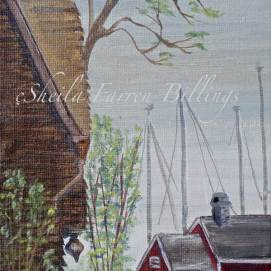 """Primm's Cottage, acrylic, 8"""" x 10"""" (viewed from The House of the Seven Gables grounds, Salem, MA)"""