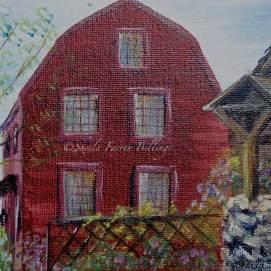 "Hawthorne's Birthplace & Old Well, acrylic, 5"" x 7"" (Salem, MA)"