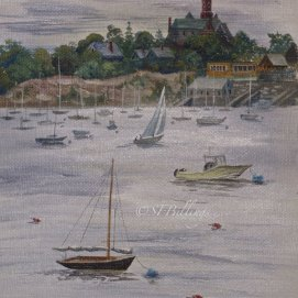 """After the Storm, acrylic, 11"""" x 14"""" (Marblehead Harbor, MA)"""