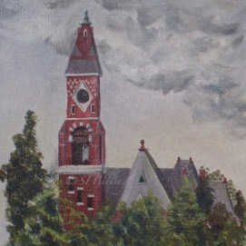 "Abbot Hall, acrylic, 8"" x 10"" (Marblehead, MA)"
