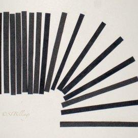 """Slinky, cut paper, 8"""" x 10"""""""