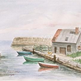 """Essex Cove, watercolor, 11"""" x 14"""" (Essex, MA)"""