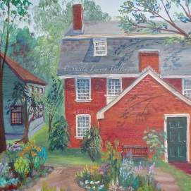 """Derby Garden, acrylic, 16"""" x 20"""" (Salem, MA --- home of the first American millionaire)"""