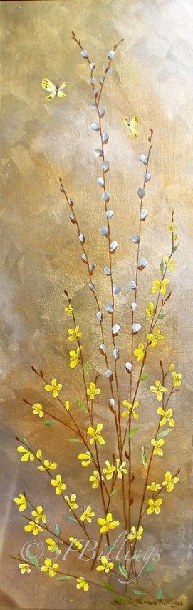 """Finally Spring, acrylic, 12"""" x 36"""""""