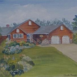 """Iowa Home, acrylic, 11"""" x 14"""""""