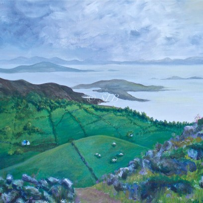 "Ring of Kerry, acrylic, 16"" x 20"""