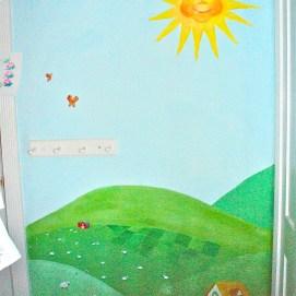 360 degree countryside mural for children's room, Boston, MA