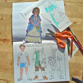 Salem: Which City? Activity Book paper play figures and historical costumes.