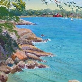 """Half Moon Beach, acrylic, 16"""" x 20"""" (Gloucester, MA)"""