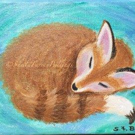 """Dozing Fox Kit, 4"""" x 4"""""""