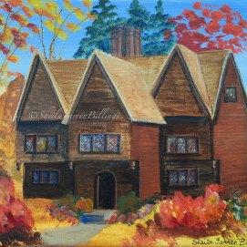 "The Witch House, acrylic, 8"" x 10"" (Salem, MA)"