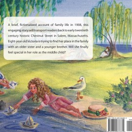 The back cover shows the children playing with paper boats at Salem Willows.In the Middle: Growing Up in Salem, Massachusetts in the Early 20th Century, by Virginia Blake Frazier and illustrated by Sheila Farren Billings.