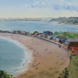 """Winthrop Beach, acrylic, 11"""" x 14"""" (Winthrop, MA)"""