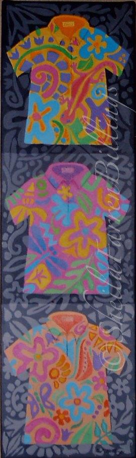 "Aloha Trio, acrylic, 4"" x 12"""