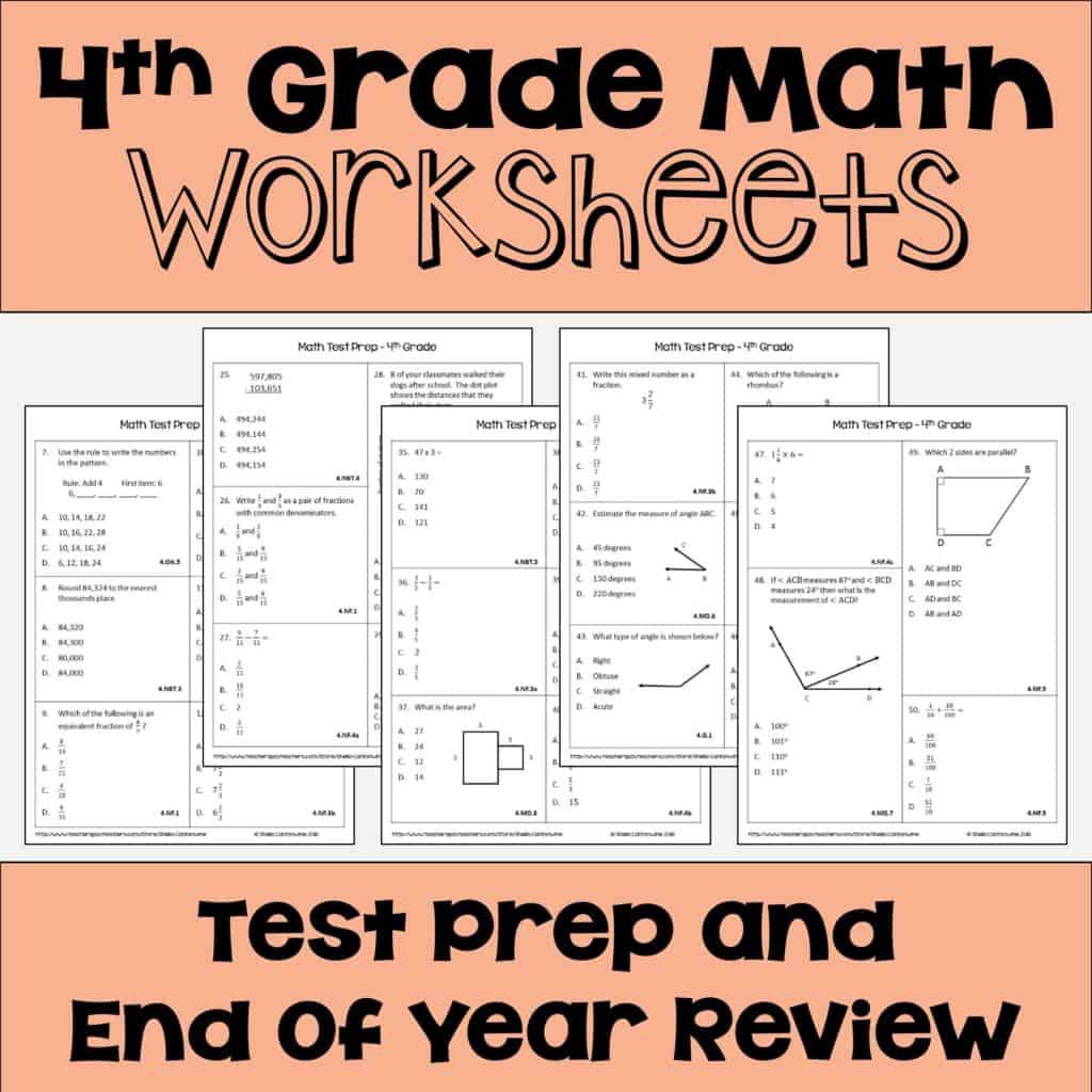 4 Fun Ways To Test Prep For 4th Grade Math
