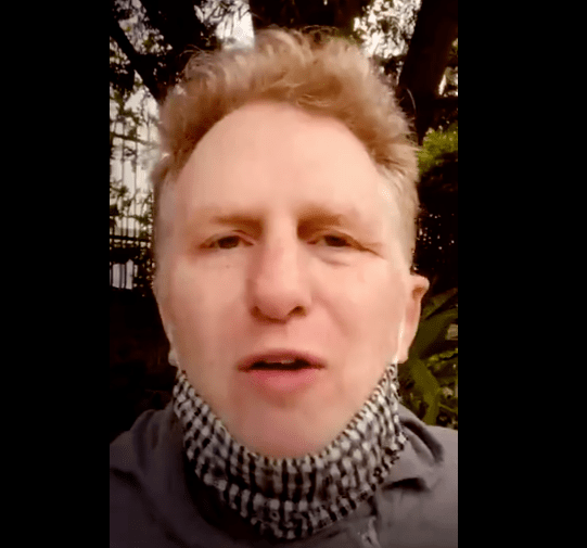 image of michael rapaport's tweet video that describes how good he feels now that Donald Trump has lost the presidency.