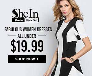 SheIn -Your Online Fashion Black&White Dress
