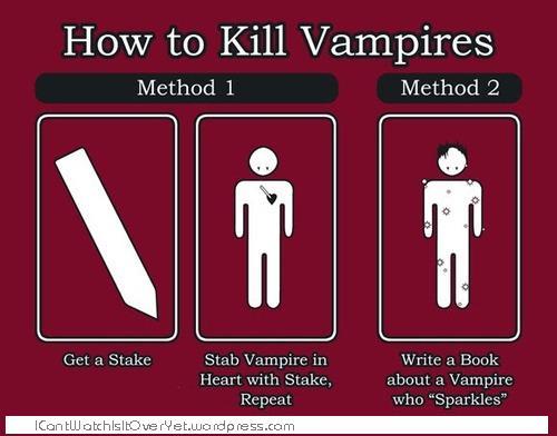 How to kill a Vampire: Literally!