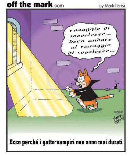 Perché non esistono i gatti vampiri