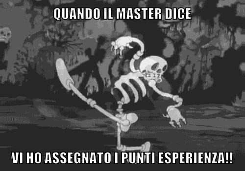 Quando il master dice...