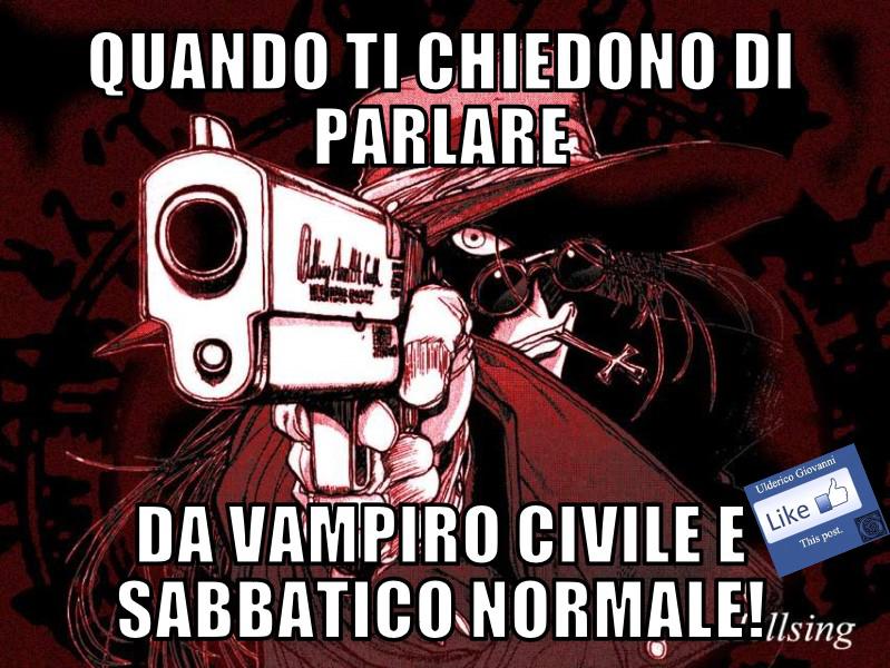 Il vampiro civile e sabbatico normale