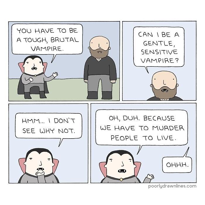 Vampiro Gentile e sensibile?